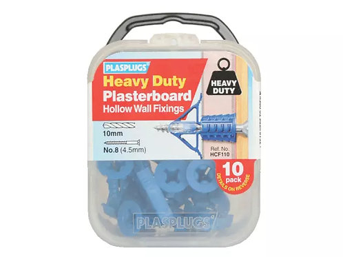 Plasplug Heavy Duty Plasterboard Fixings 10pc