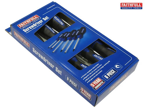 Faithfull Screwdriver Set 6pc