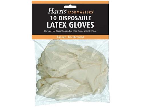 Harris 10 Disposable Latex Gloves