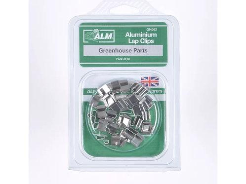 ALM Aluminium Lap Clips x50