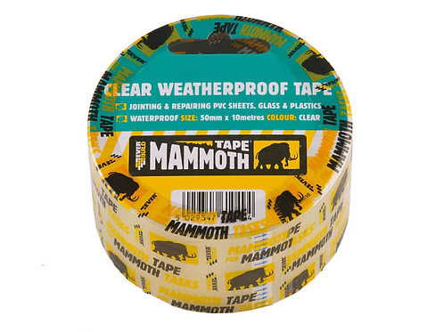 Mammoth Clear Weatherproof Tape 50mm x 10m
