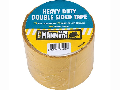 Mammoth Heavy Duty Double Sided Tape 50mm x 5m