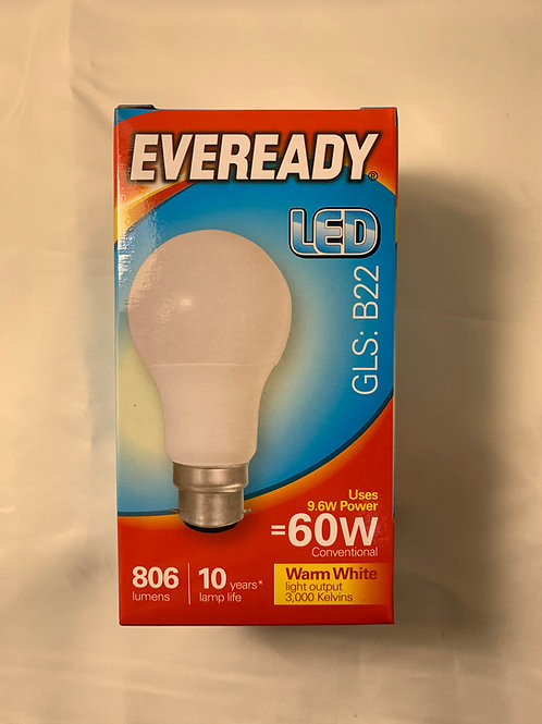 Eveready LED GLS B22 60w