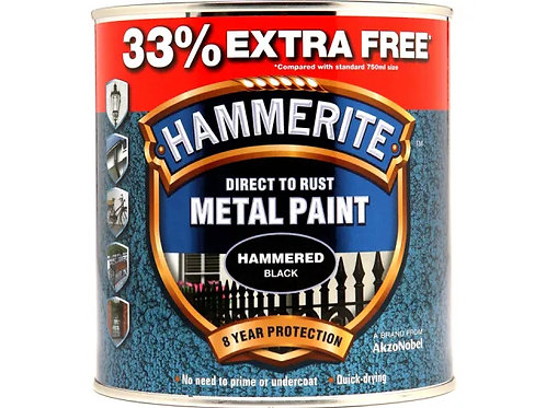 Hammerite Direct To Rust Metal Paint 33% EXTRA FREE