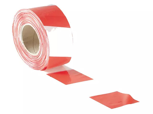 Faithfull Barrier Tape Red & White 70mm x 500m