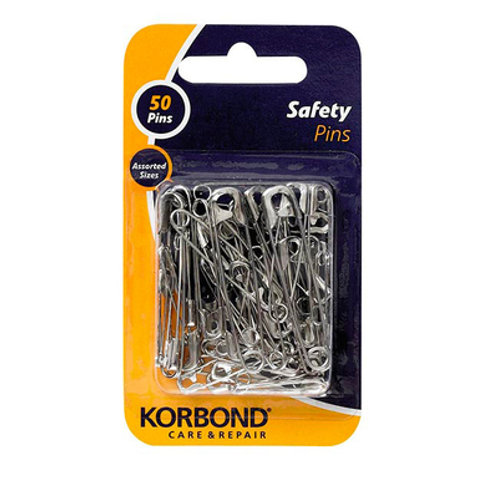 Korbond Safety Pins 50pc