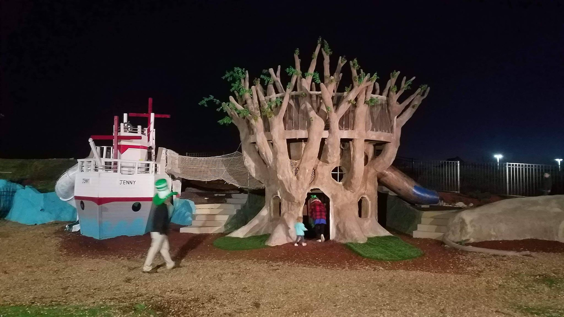 Playscape at night