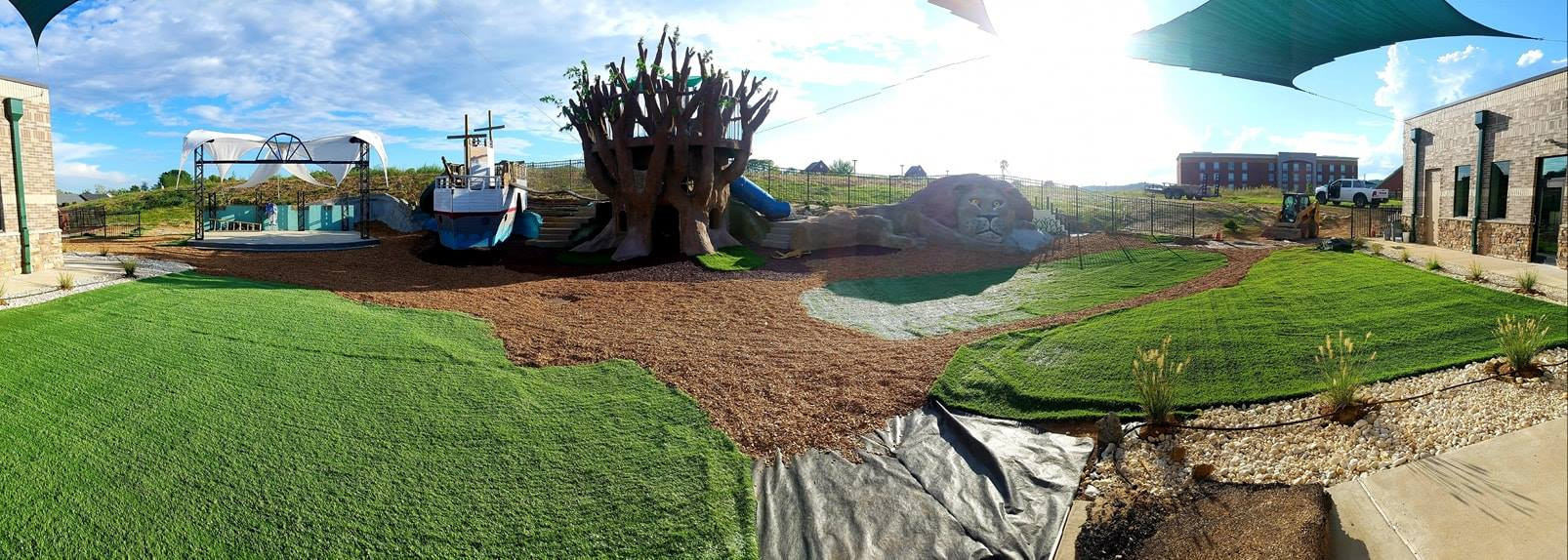 A wide view of our outdoor space