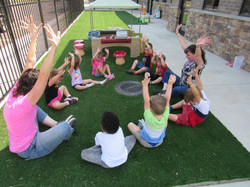 Pre-K learning outdoors