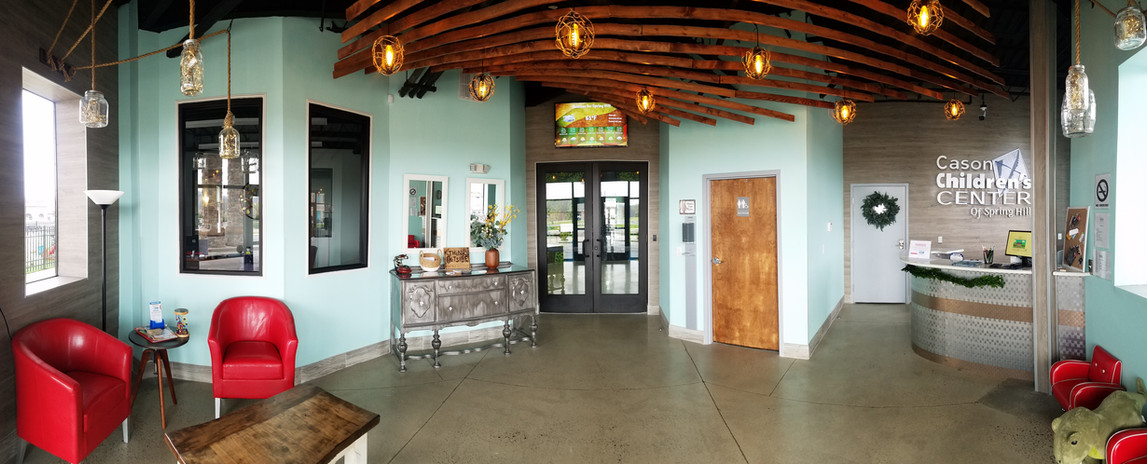 Wide view of Reception