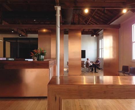 Copper doors auckland architecture