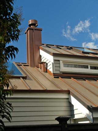 Copper Batten cap Roof