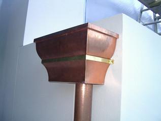 Copper rainwater head