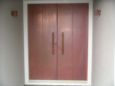 Copper doors