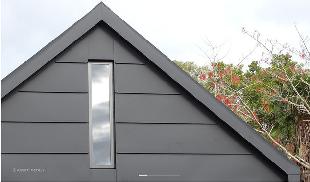 Flatlock cladding - Gotham Black