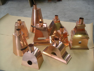 Copper rainwater heads metal