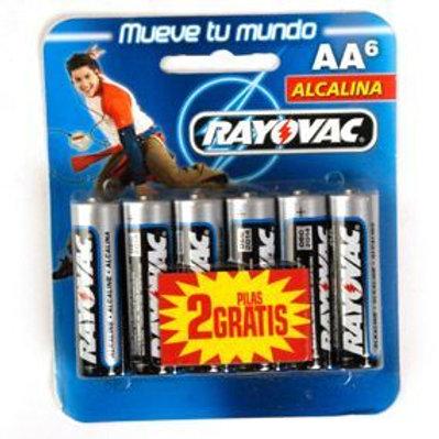 BLISTER BATERIAS RAYOVAC AA-4 012800489640