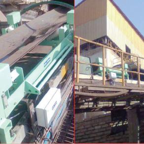 Belt weigher for fuel feed conveyor