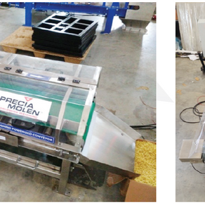 Weigh belt conveyor for dosing soap noodles
