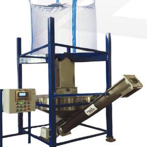 Jumbo bag unloading & dosing system for fine powder