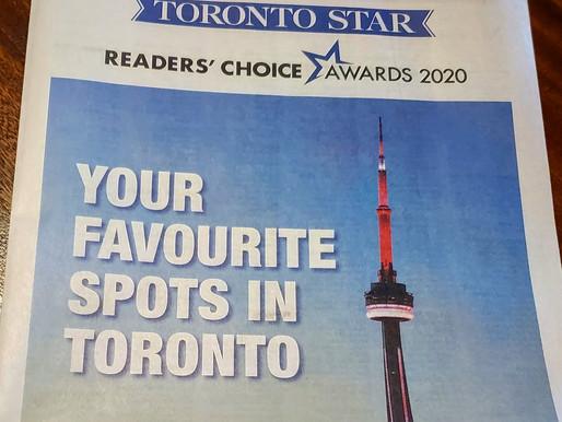 Toronto Star Reader's Choice Awards 2020