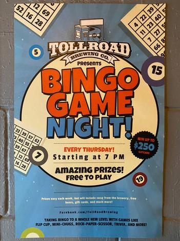 Bingo Game Night Thursdays