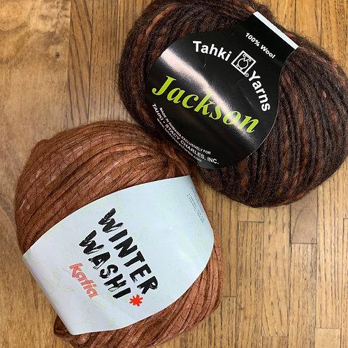 Irish Moss Stitch Blanket Kit, Terra Tweed