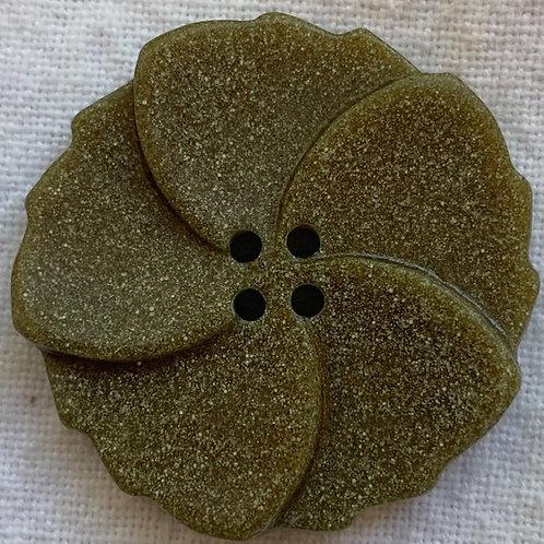 Taupe Pinwheel button
