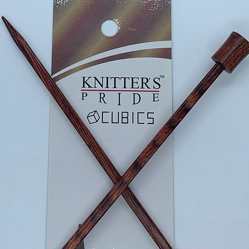 """Knitter's Pride Cubics 10"""" Single Point Needles size 7"""