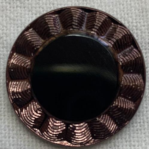 Plum Black Eyed Susan small button