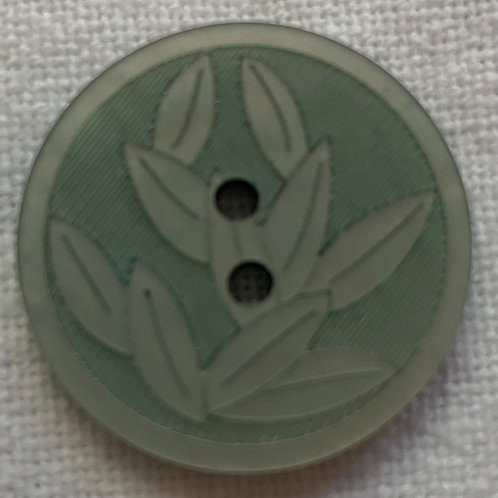 Leaves in Relief Green button