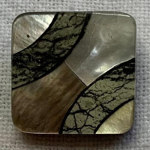 Shell Mosaic Square button