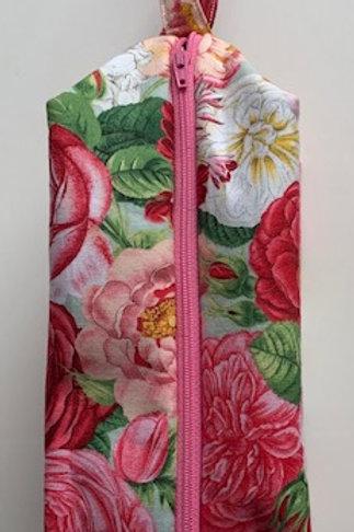 Tika Bags, Rose print project bag