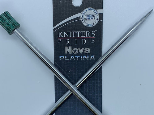 "Knitter's Pride Nova Platina 14"" Single Point Needles sizes 10-11"