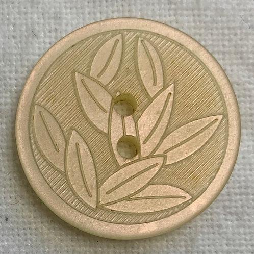 Leaves in Relief Ecru button