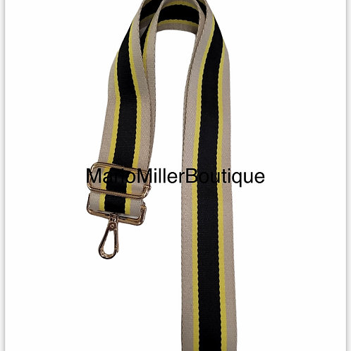 Black & Gold Single Strap