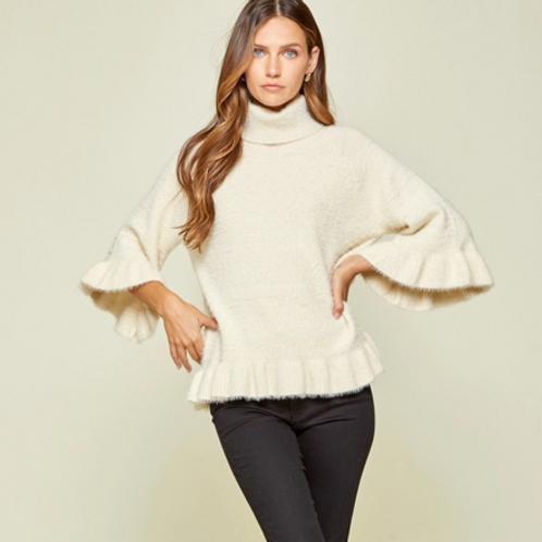 Ivory Ruffle Sweater