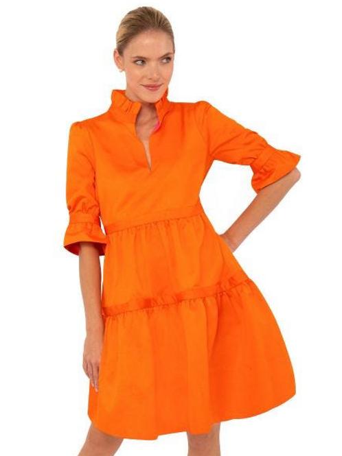 Orange Tiered Dress