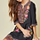 Thumbnail: Chard Black Floral Embroidery Dress