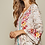 Thumbnail: Blush Snake Print with Embroidery Bell Sleeve Top
