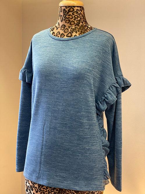 JoyJoy Baby Blue Long Sleeve with Ruffle Sleeve