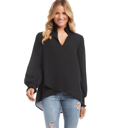Black Crossover Top ~ High Low