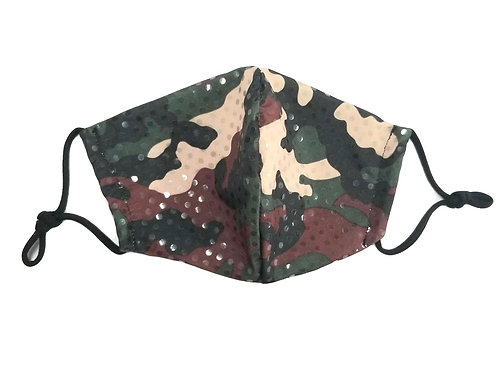 Sequin Camo ~ Double Layer ~ Insert ~ Adult Mask