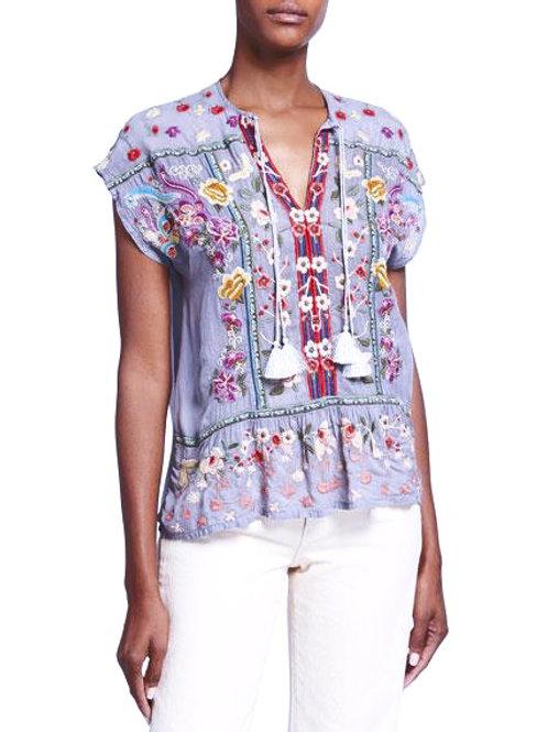 Johnny Was Lando Embroidery ~ Lilac