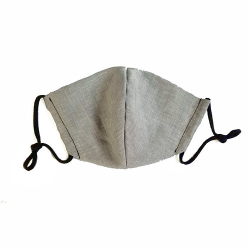 Designer Adult Gray Face Mask, Unisex, Double Layer Cloth