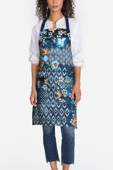 Johnny Was Printed Navy Apron