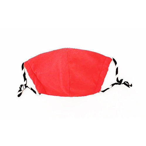 Designer Adult Red Face Mask, Unisex, Double Layer Cloth