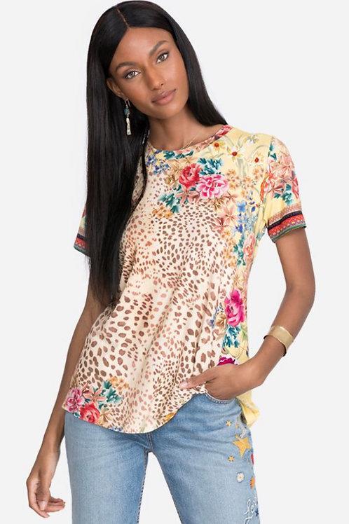 Bamboo T-Shirt JW Leopard Floral