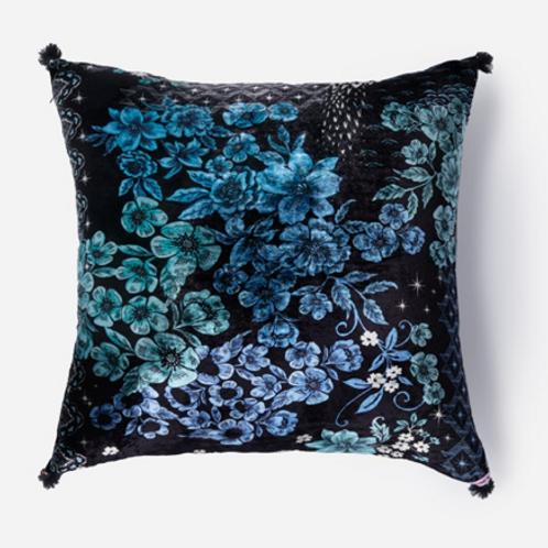 Silk Velvet Tassels Pillow JW