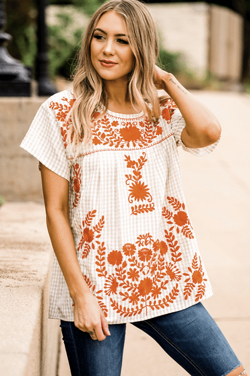 Game Day Embroidery Top